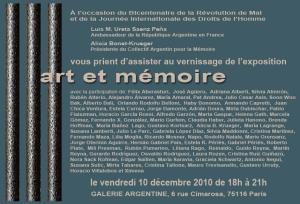 Invitation EXPO ART ET MEMOIRE