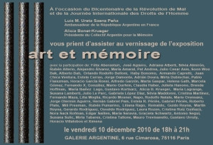 Invitation EXPO ART ET MEMOIRE