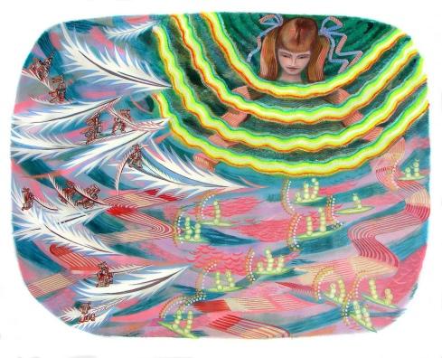 La niña del agua Huile sur toile 150cm x 210cm