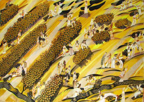 Plantacion Huile sur toile 160cm x 230cm