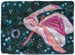 Robe ailée acrylique sur papier 50cm x 65cm