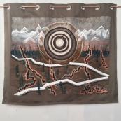 Pipe-line - Acrylique, pastel et huile, rideau - 130cm x 150cm