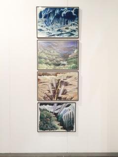 Fonds de scène - Acrylique sur papier - 50cm x 70cm chacun