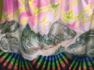 Sous-sol - Huile, tissus. 180cm x 280cm